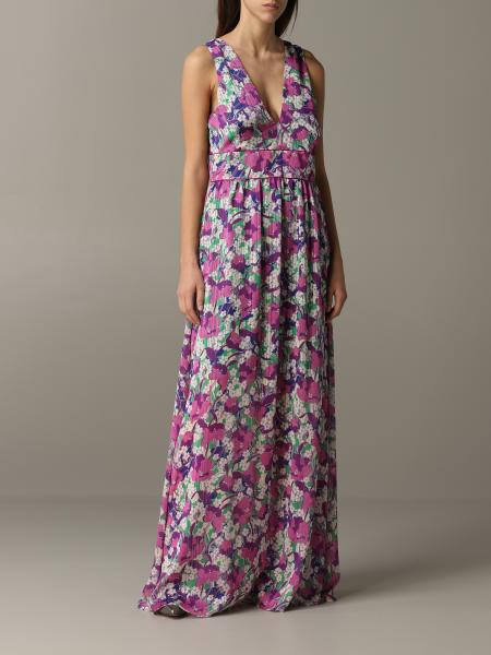 Long Pinko dress with floral pattern