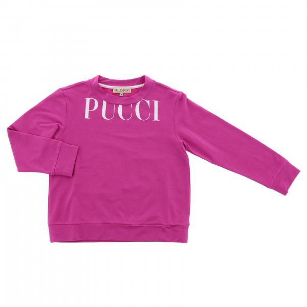 Толстовка с длинным рукавом и логотипом Детское Emilio Pucci