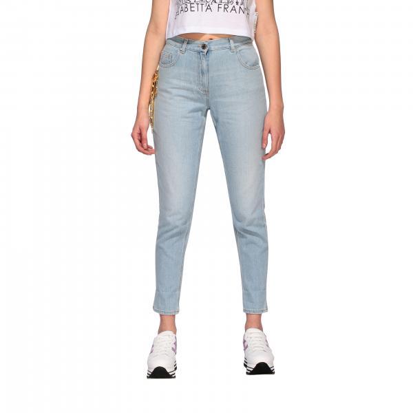Elisabetta Franchi 链条装饰紧身牛仔裤