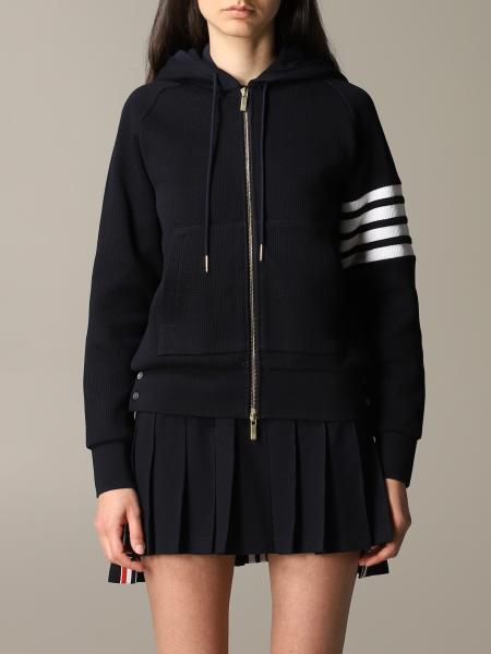 Thom Browne sweatshirt with hood and zip