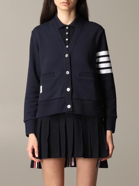 Thom Browne cardigan with striped bands