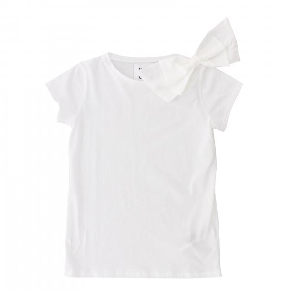 Short-sleeved Douuod T-shirt with bow