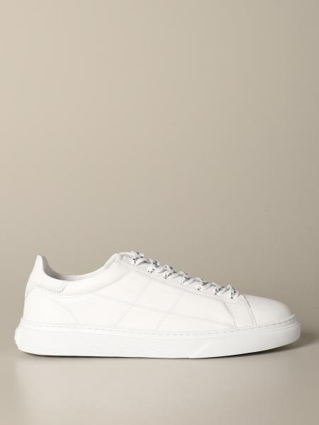 Hogan leather sneakers with H stitching