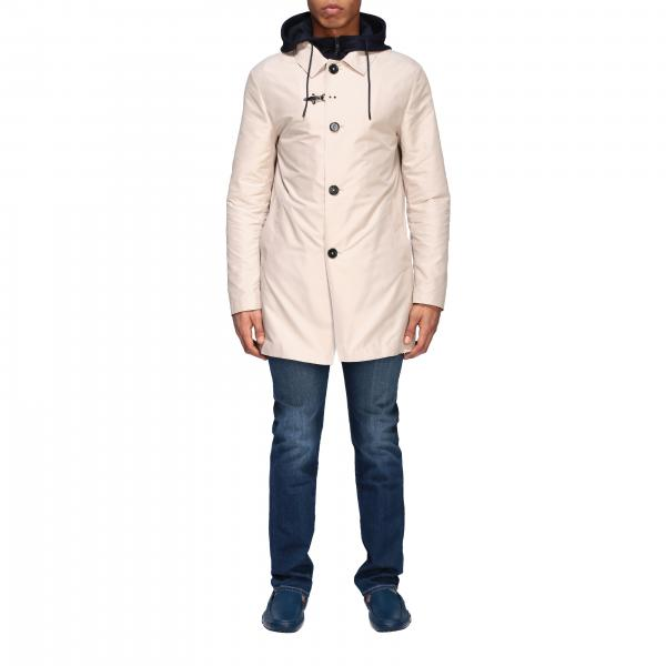Trench-coat droit à capuche Fay