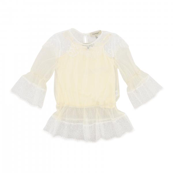 Twin-set sheer lace shirt with top