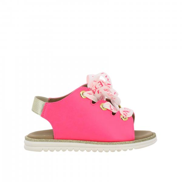Twin-set open toe sandal with logoed laces