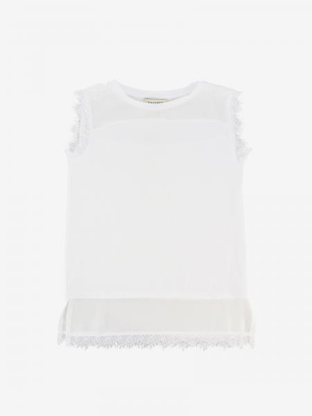 Veiled Twin Set tank top with lace edges