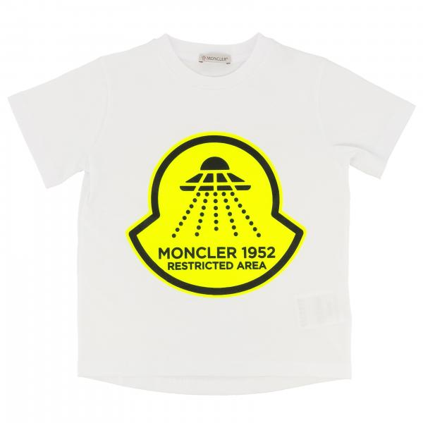 Moncler short-sleeved T-shirt with 1952 logo print