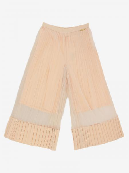 Wide Twin-set trousers in pleated fabric