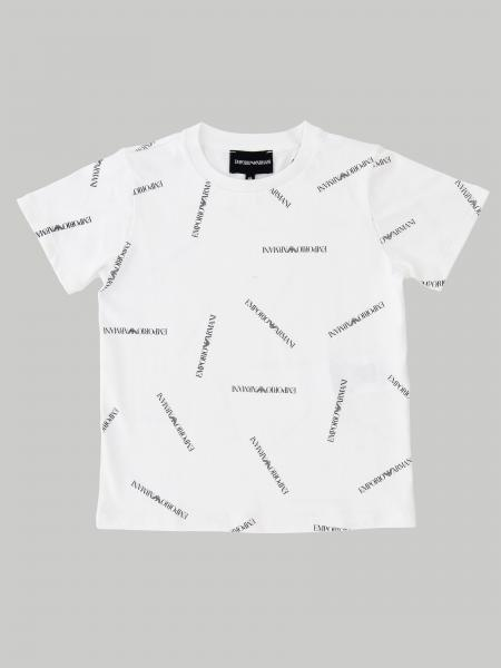 Emporio Armani short-sleeved T-shirt with all over logo