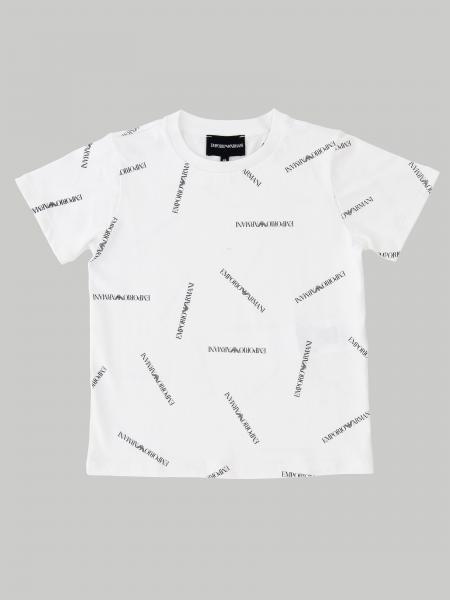 T-shirt Emporio Armani à manches courtes avec logo all over