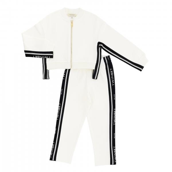 Sweatshirt + Twin-set trousers with logoed bands outfit