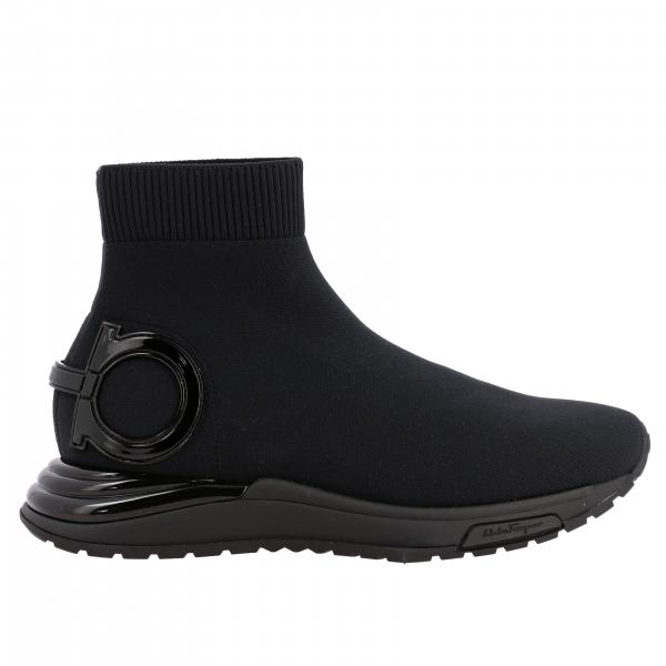 Sneakers Salvatore Ferragamo in tessuto tecnico con gancio mediterraneo