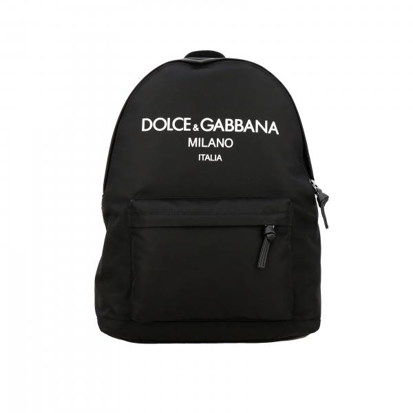 Dolce & Gabbana Nylon Rucksack mit großem Logo