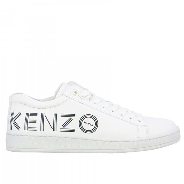 Kenzo smooth leather sneakers with logo