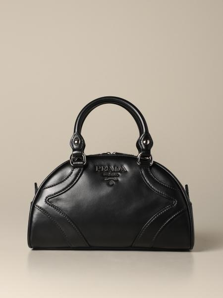 Prada bowling handbag in smooth leather