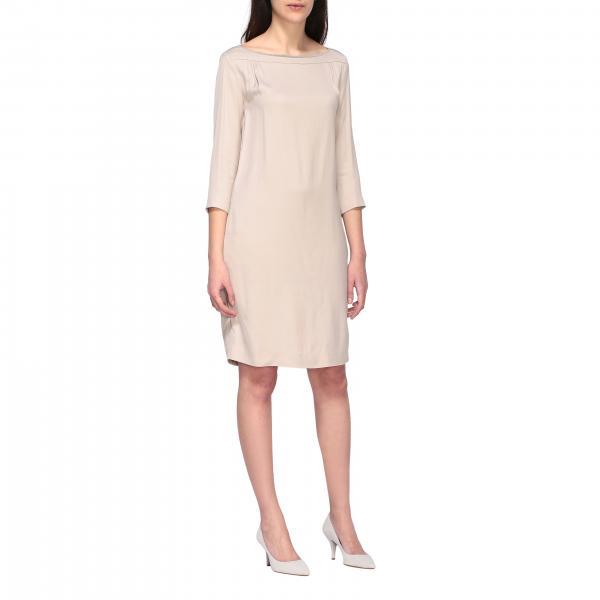Fabiana Filippi classic dress with metallic finishes