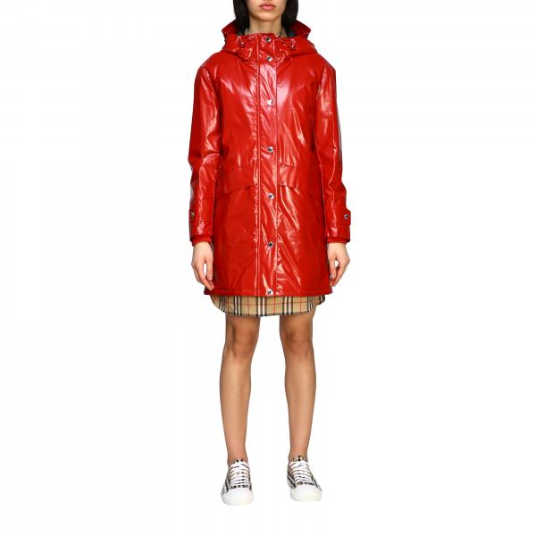 Burberry waterproof coat with back print
