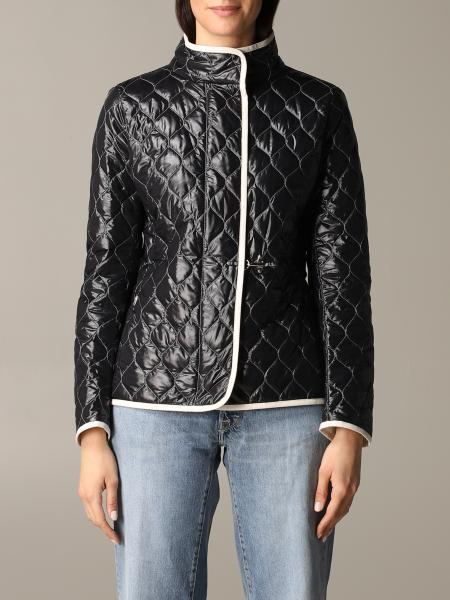 Fay quilted down anorak with frog