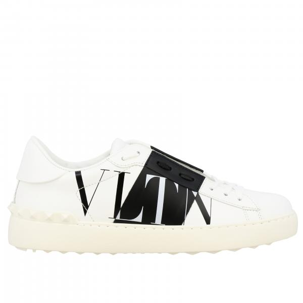 Valentino Garavani leather sneakers with VLTN band and monogram