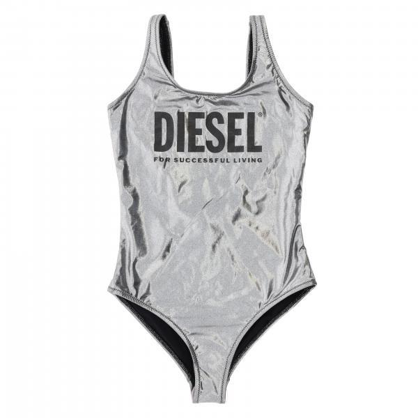 Costume Diesel intero in tessuto laminato con stampa logo