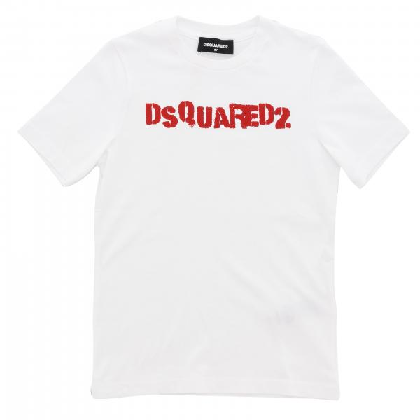 T-shirt Dsquared2 Junior a maniche corte con logo