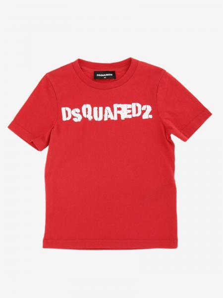 T-shirt Dsquared2 Junior a maniche corte con logo