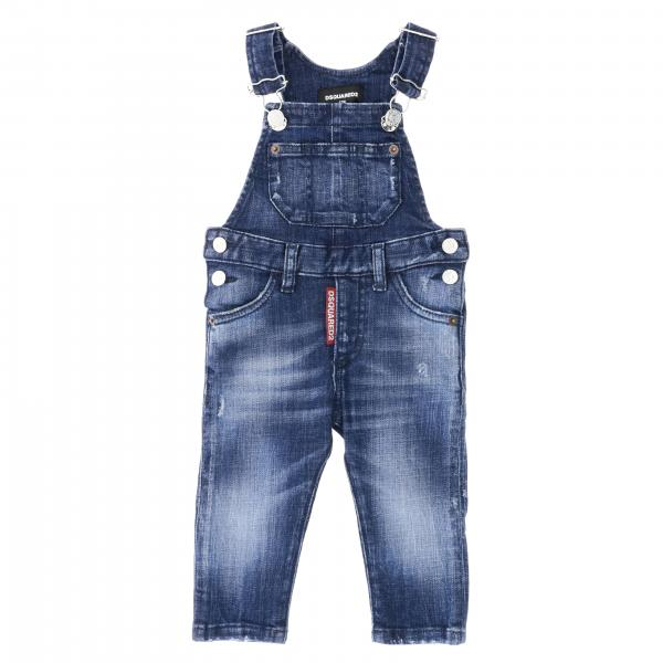 Salopette Dsquared2 Junior en denim usé