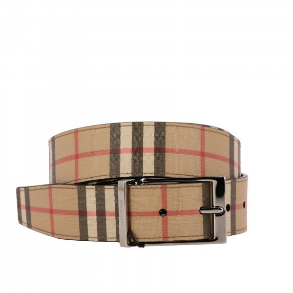 Cintura Burberry in pelle check