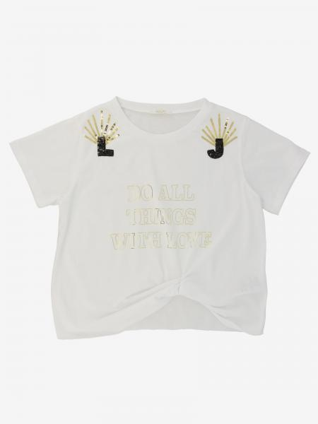 Liu Jo short-sleeved T-shirt with writing and sequins