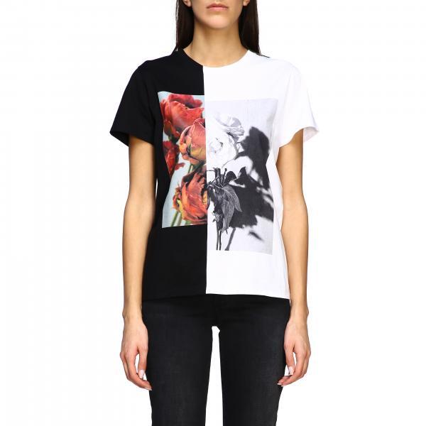 Alexander Mcqueen T-Shirt mit zweifarbigem Print