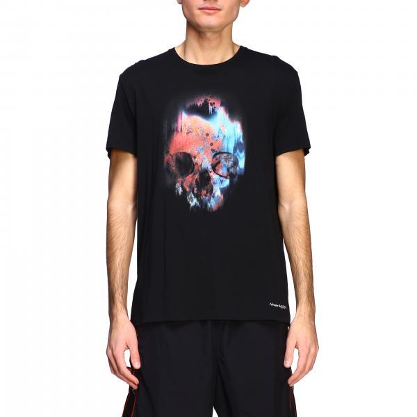Alexander Mcqueen T-Shirt mit Totenkopf Print