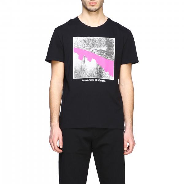 Alexander Mcqueen T-Shirt mit Rundhalsausschnitt und Aufdruck