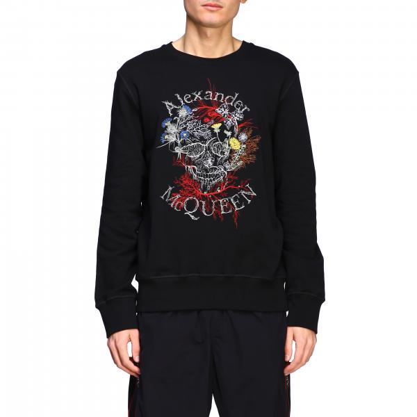 Mcq Mcqueen Sweatshirt mit Totenkopf Print und Logo