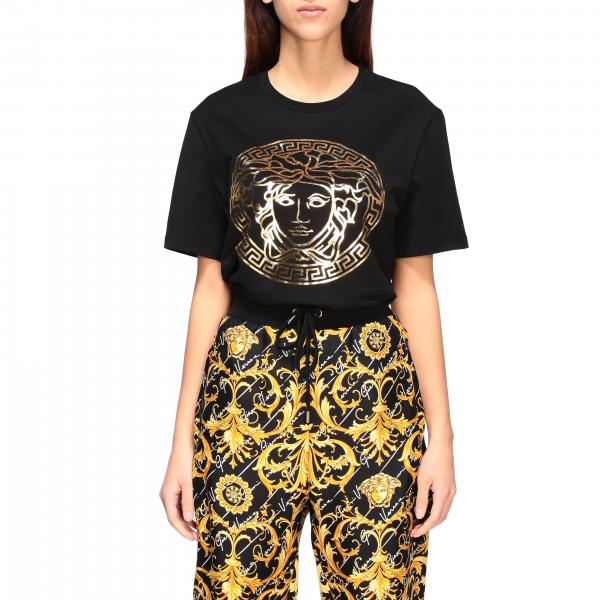 T-shirt Versace a maniche corte con stampa medusa