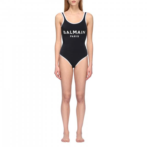 Balmain Badeanzug mit Logo