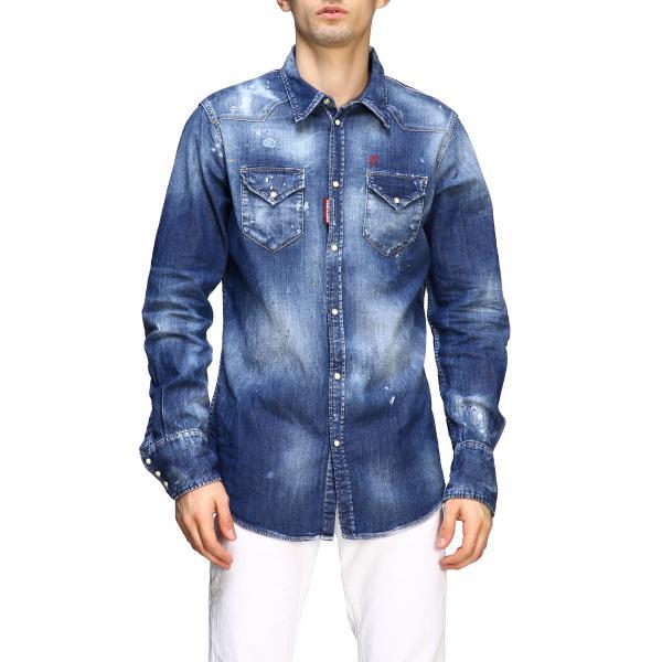 Camicia di jeans Dsquared2 con rotture