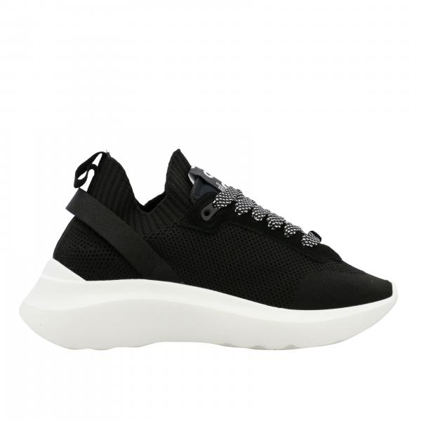 Sneakers Dsquared2 slip on in mesh con logo Icon