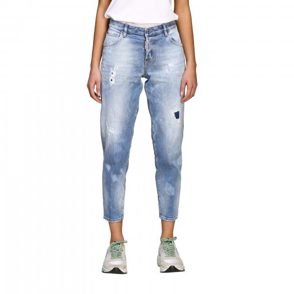 Jeans Dsquared2 regular fit con rotture
