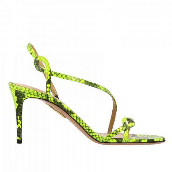 Scarpe con tacco sandalo aquazzura in pelle stampa pitone Aquazzura - Giglio.com