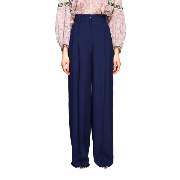 Alberta Ferretti wide trousers with high waist