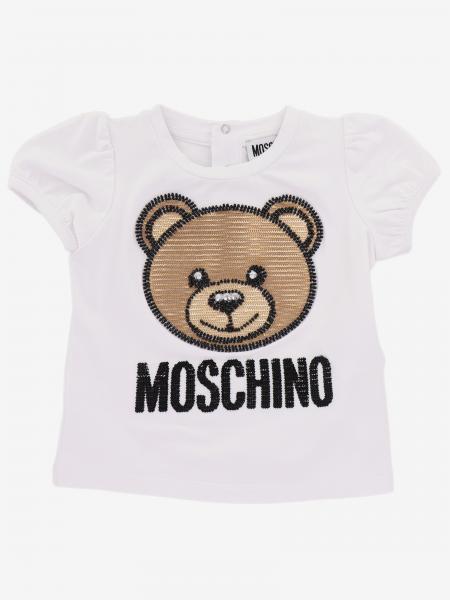 Moschino Baby logo T恤