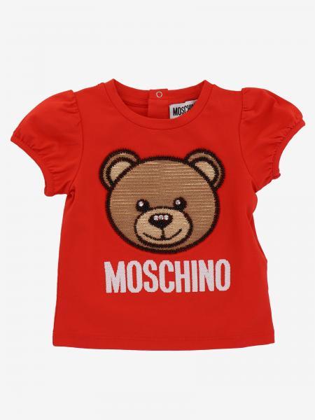 T-shirt Moschino Baby con Teddy e logo