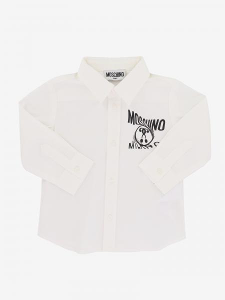 Felpa Moschino Baby con stampa logo e teddy