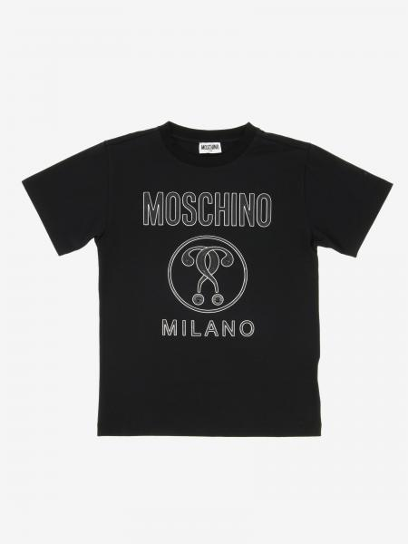 Moschino Kid logo印花短袖T恤