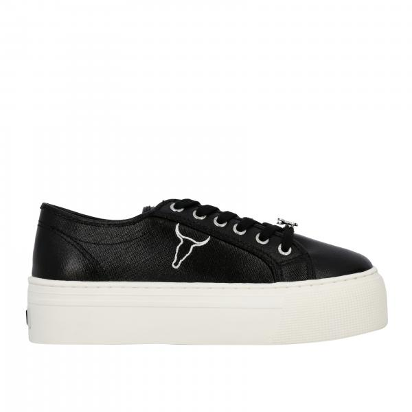 Sneakers Ruby Windsorsmith in pelle laminata con logo