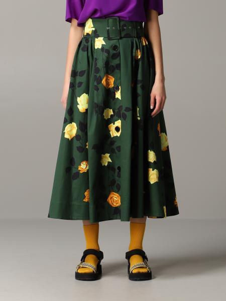 Jupe Msgm à motif floral avec ceinture