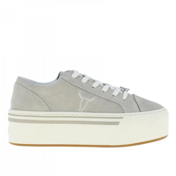Sneakers Rosy Windsorsmith in camoscio con logo