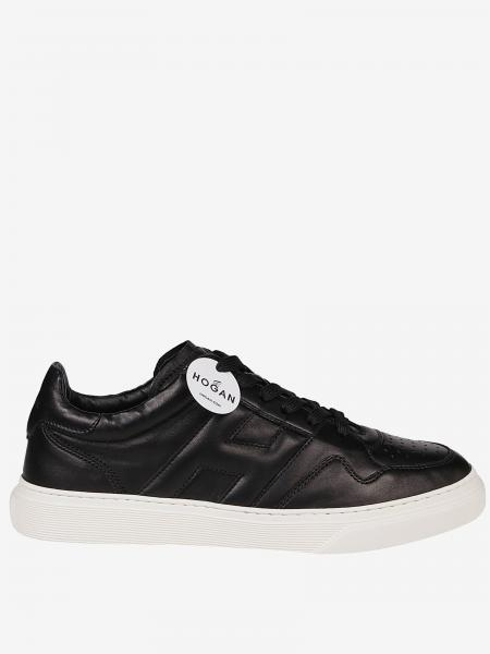 Hogan leather sneakers with rounded big H