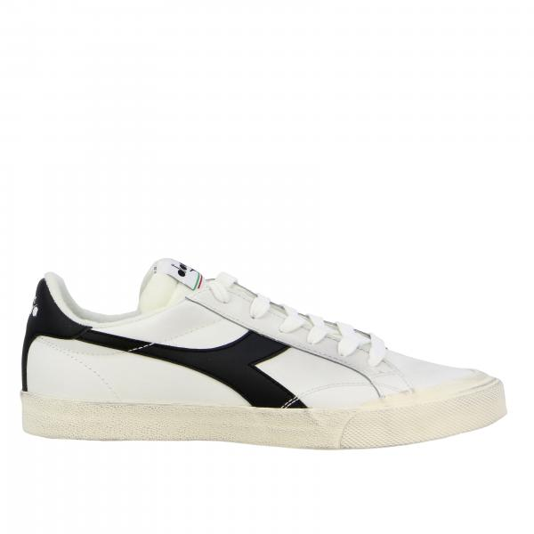 Sneakers melody leather dirty Diadora in pelle